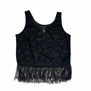 🌻2 For $20🌻 NWOT H&M   Fringe & Lace Tank